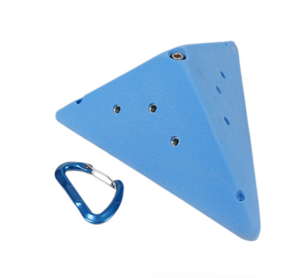 A volume, a large climbing hold used for bouldering