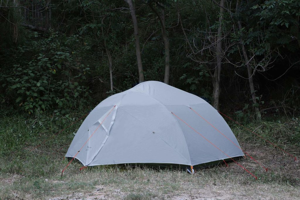 Lightweight Grey 3-Person Backpacking Tent Double Layer Waterproof Tent for Hiking Camping or Climbing