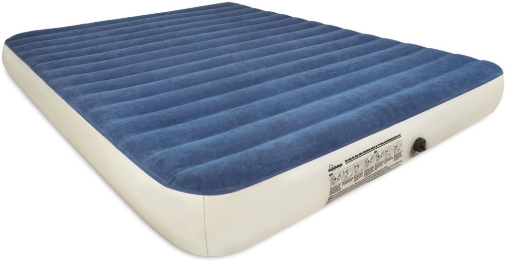 SoundAsleep Camping Series Air Mattress with Eco-Friendly PVC - Includes Rechargeable Air Pump (Queen)